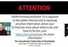 Hackers hijack thousand of Google Chromecasts to promote PewDiePie